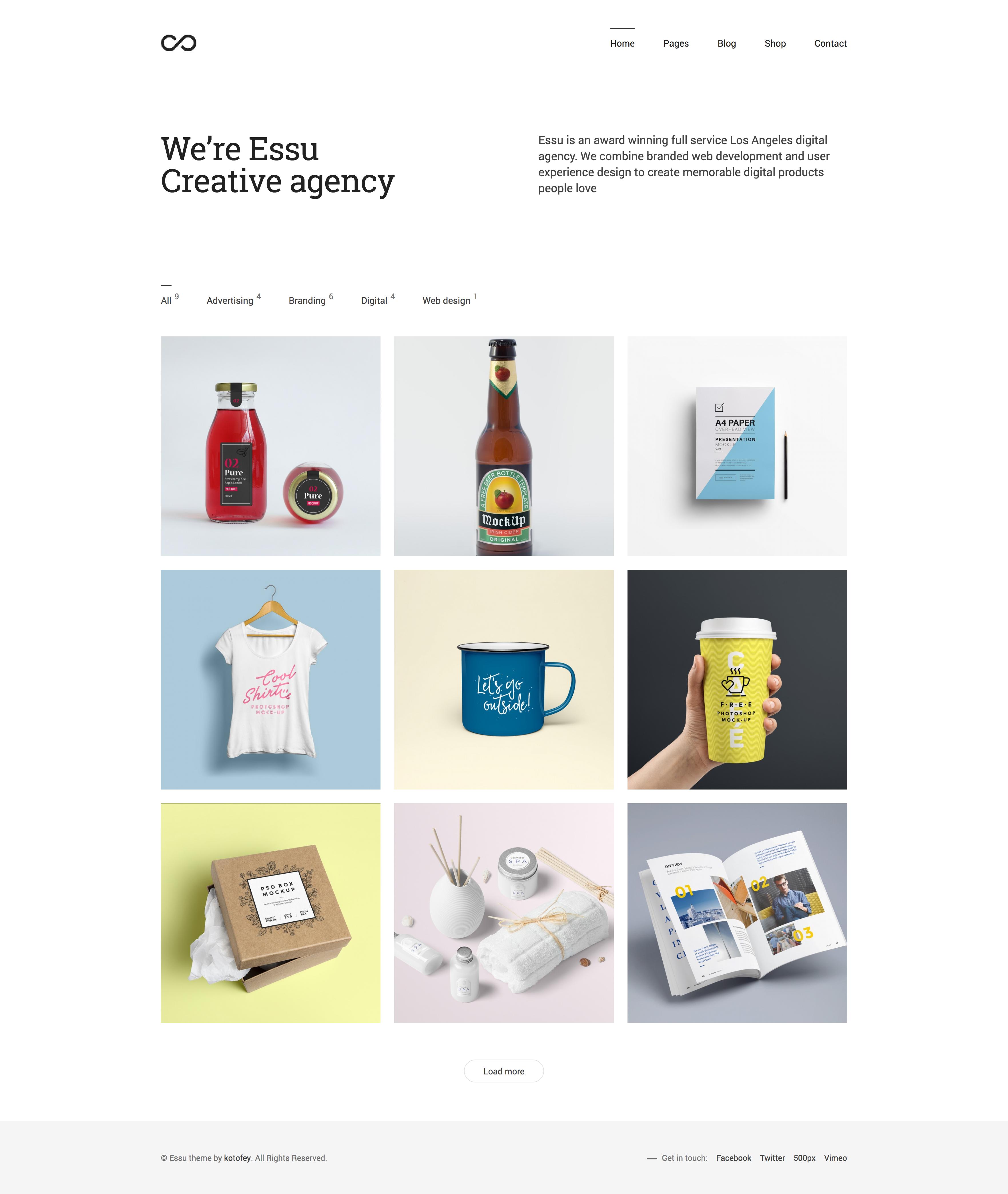Essu Simple Portfolio Wordpress Theme In 2020 With Images Portfolio Web Design Portfolio Website Design Web Design