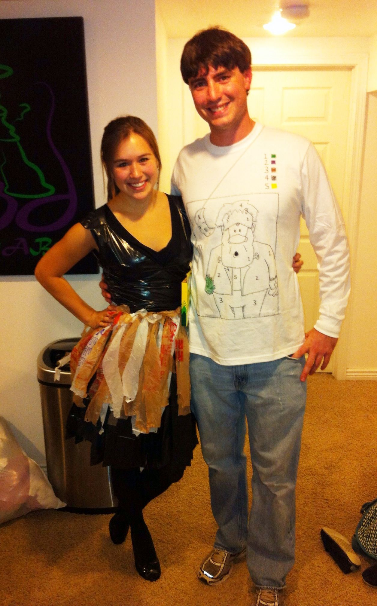 "clever halloween costume ideas. go interactive with ""paint"