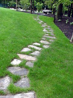Camino de piedra 2 ideas de jardin pinterest gardens - Camino de piedras para jardin ...