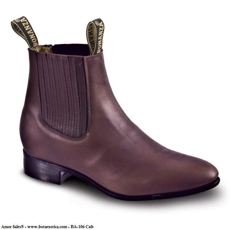 55feec659e9 BA-106 - Botines Charros (Piel Graso) - Bonanza Boots Equestrian Collection  - Corte  Piel Res - Forro  Piel Res - Suela  Hule - Tacon  Hule -  Construccion  ...