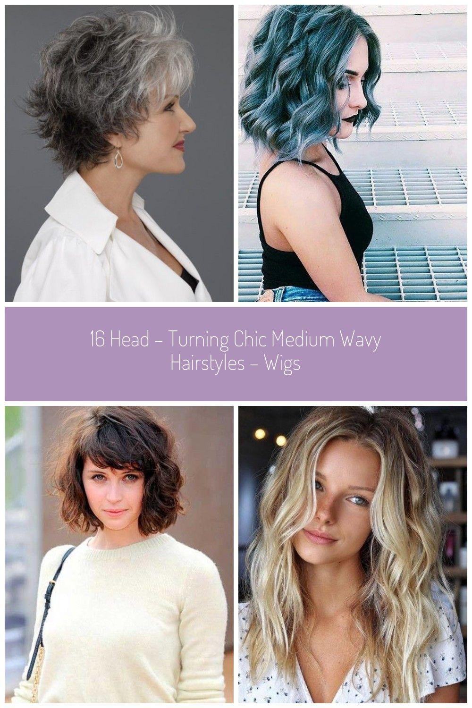 Easy Chic Medium Wavy Hairstyles for women over 50_ #wavy hair 16 HEAD –  TURNING CHIC MEDIUM WAVY HAIR… | Wavy hairstyles medium, Thick hair styles,  Fine thick hair