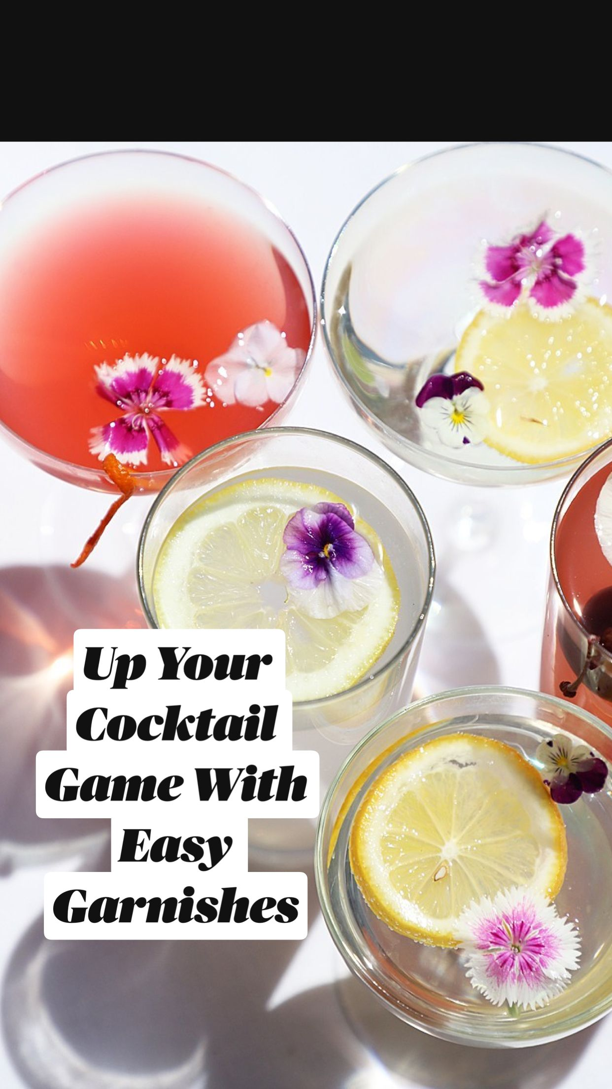 Up Your Cocktail Game With Easy Garnishes