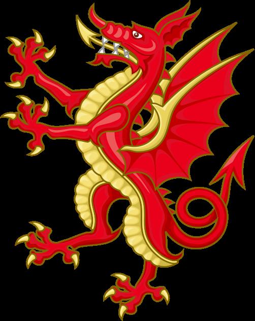 Download File:Tudor Dragon Badge.svg   Dragon, Coat of arms, Shield ...