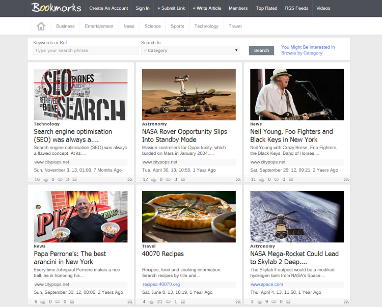create your own news aggregator website by getting digg website