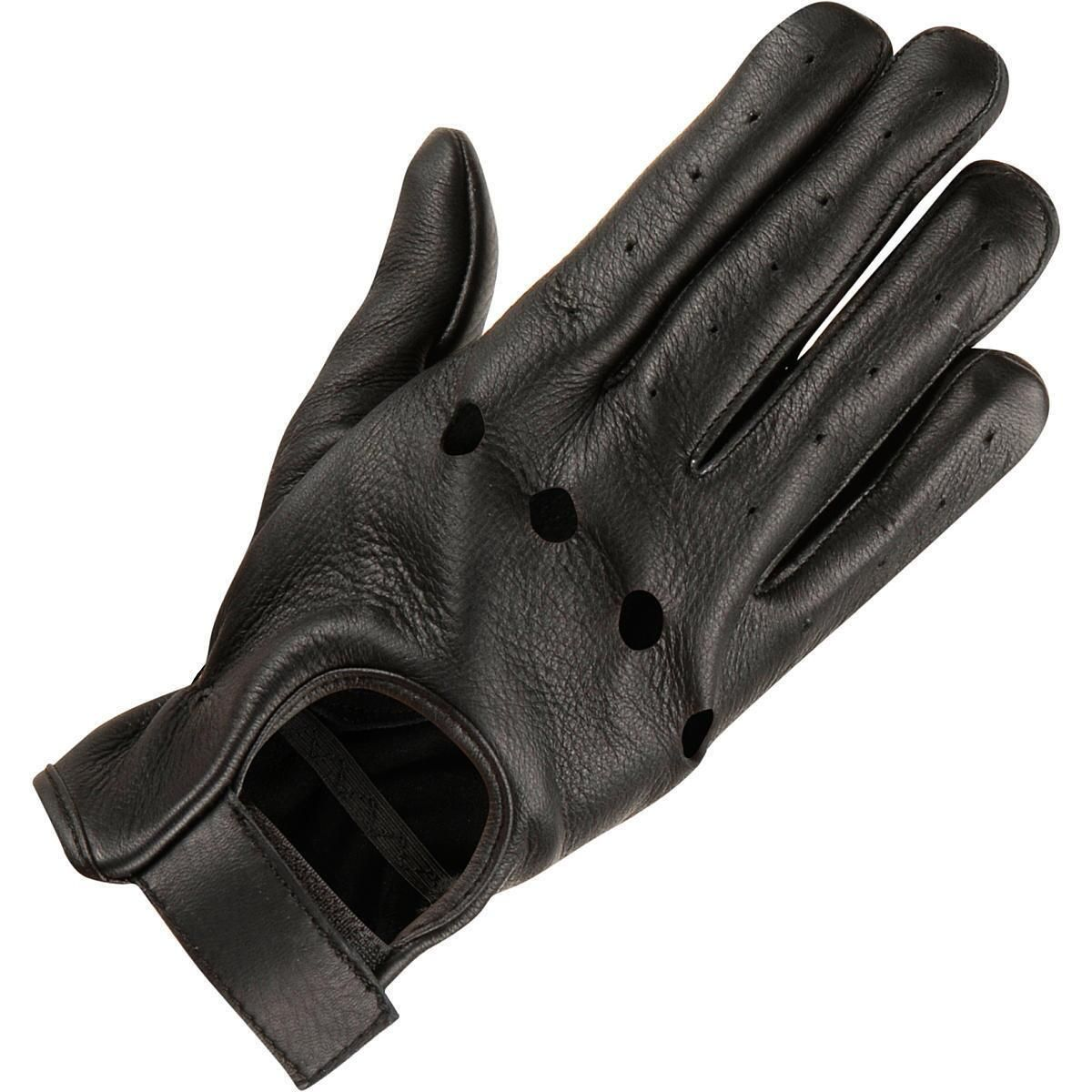 Mens leather driving gloves australia - Driving Gloves Knuckle Holes Men S Leather Driving Glove W Knuckle Holes