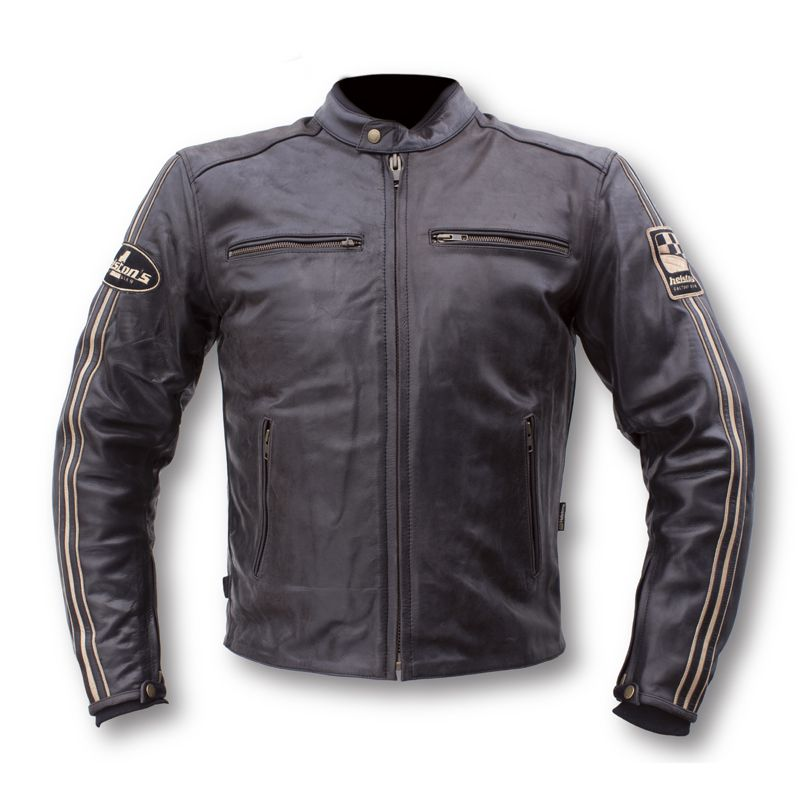 blouson moto helstons ace cuir mat motorcycle clothing. Black Bedroom Furniture Sets. Home Design Ideas