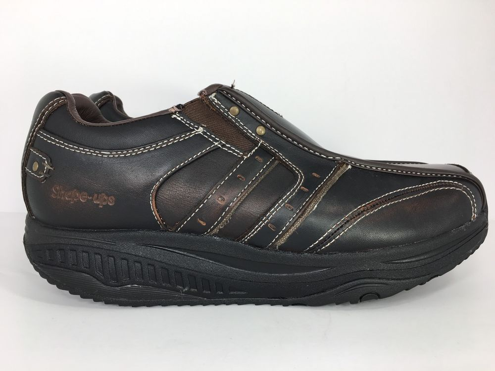 e6e4cd93d9371f Mens Skechers Shape Ups 66501 Strider Brown Loafer Slip On Size 11 ...