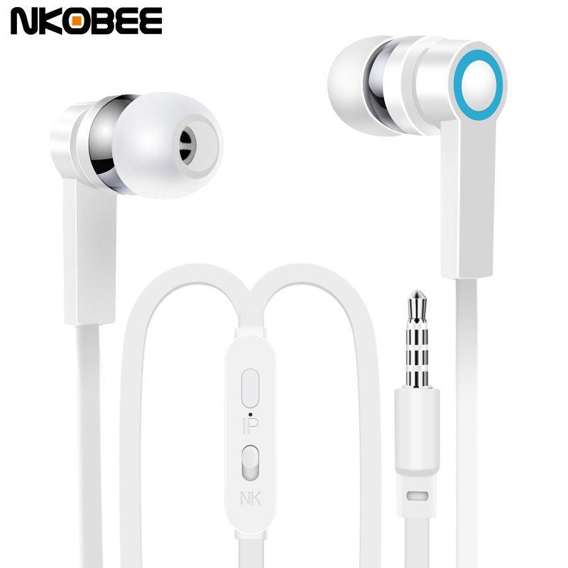 Us 1 99 Nkobee J3 In Ear Earphone For Apple Iphone Stereo Earbuds Headset With Microphone Apple Earbuds Earphone Head Apple Earphones Earbuds Headset