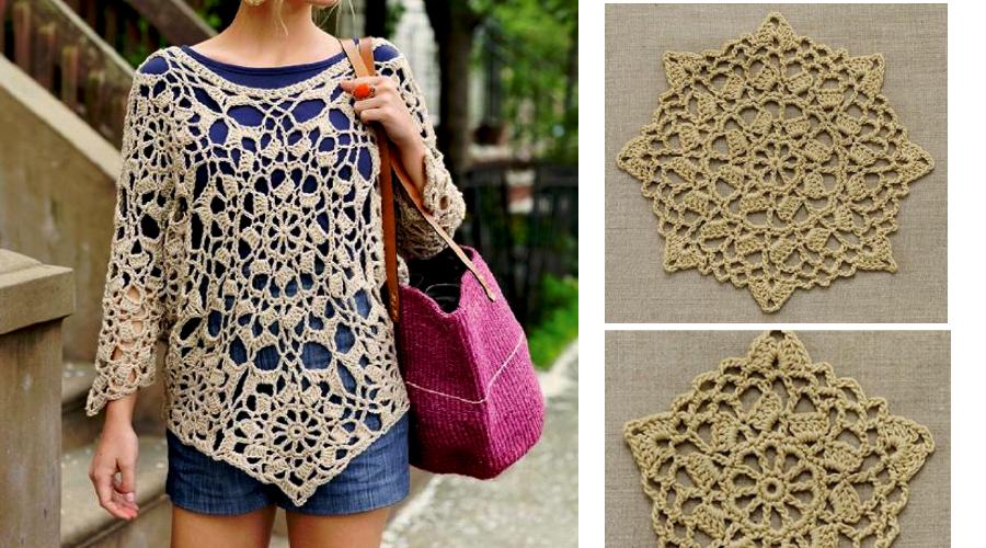 blusa-a-crochet-con-rosetas | crochet verano | Pinterest | Blusas ...