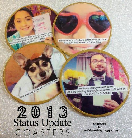 iLoveToCreate Blog: 2013 Status Update Drink Coasters