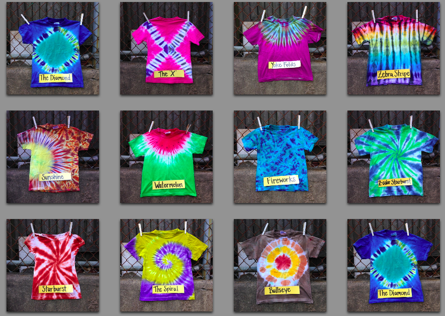 What Tiedye Technique Will You Use This Summer Arts And Crafts Adorable Tie Dye Patterns