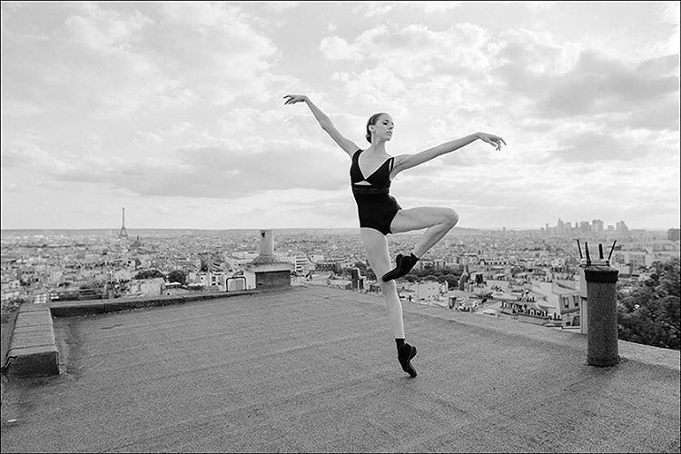 """Ballerina Project in Paris: #Ballerina - @katieboren1 in #Montmartre #Paris Outfit by @wolfordfashion #Wolford #WolfordBodywear #ballerinaproject_…"""