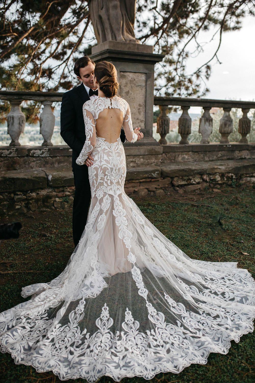 Romantic Tuscan Villa Wedding At A Lavish Historic Venue Ruffled Sheer Wedding Dress Whimsical Wedding Gown Wedding Dresses Unique,Wedding Flower Girl Dresses Philippines