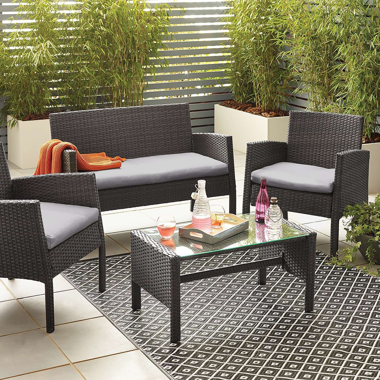Gobi Grey 4 Seat Conversation Set Dunelm Garden