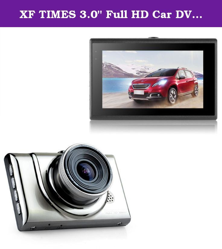"XF TIMES 3.0"" Full HD Car DVR Dash Cam 170° Wide Angle"