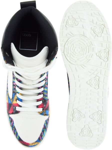15e758eb488a Asos Black X Puma Asos Trainers with Multi Colour Print in White for Men