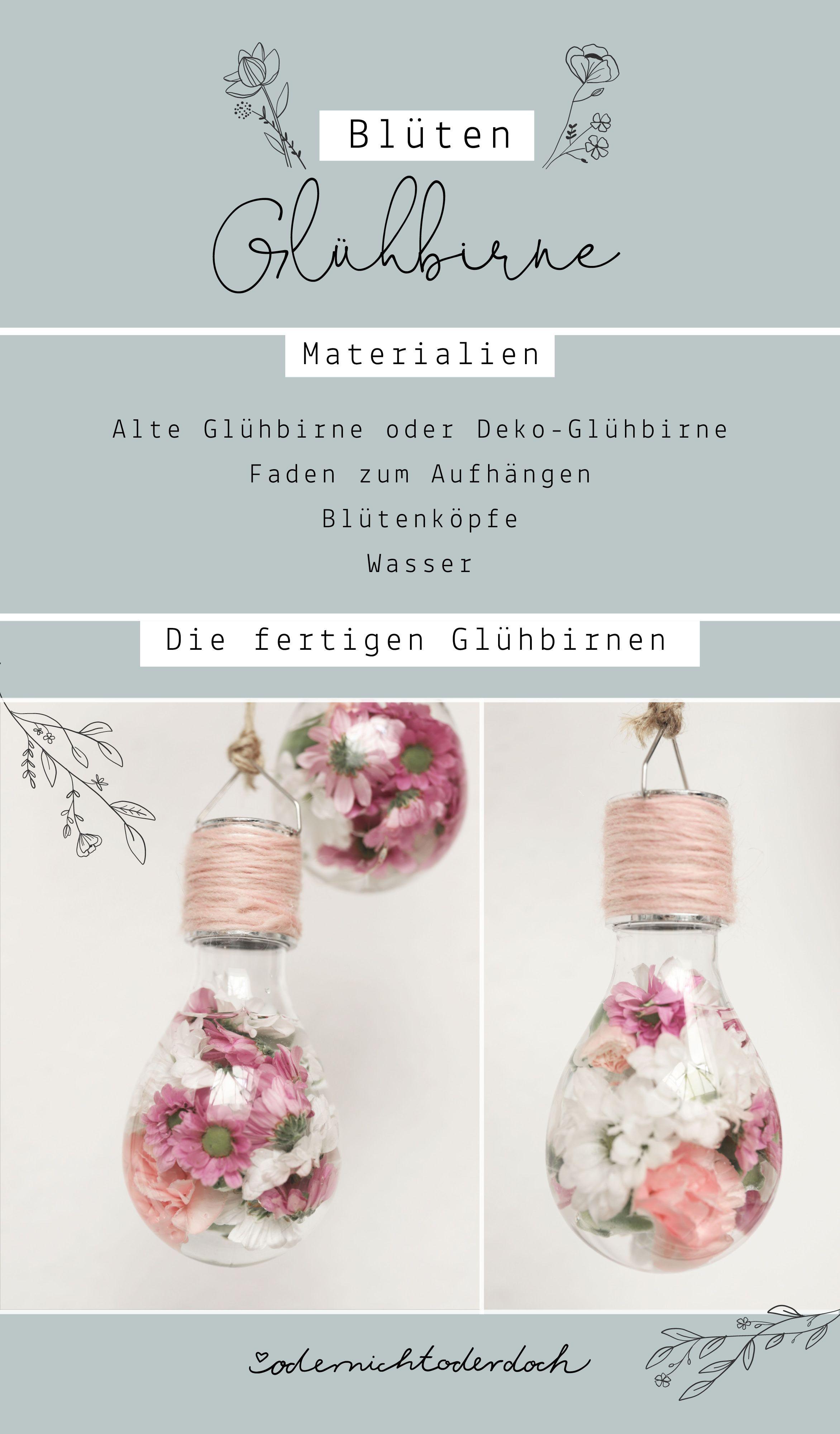 Blumenvasen aus Glühbirnen #zimmer+deko