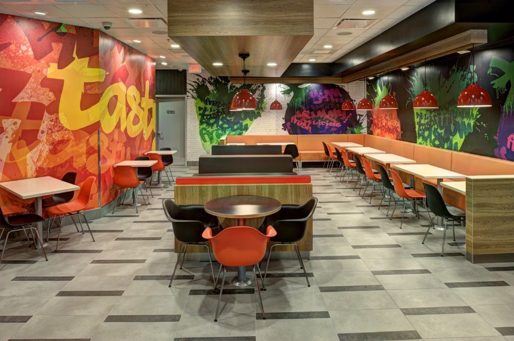 Fast food restaurant decorating ideas wall pinterest