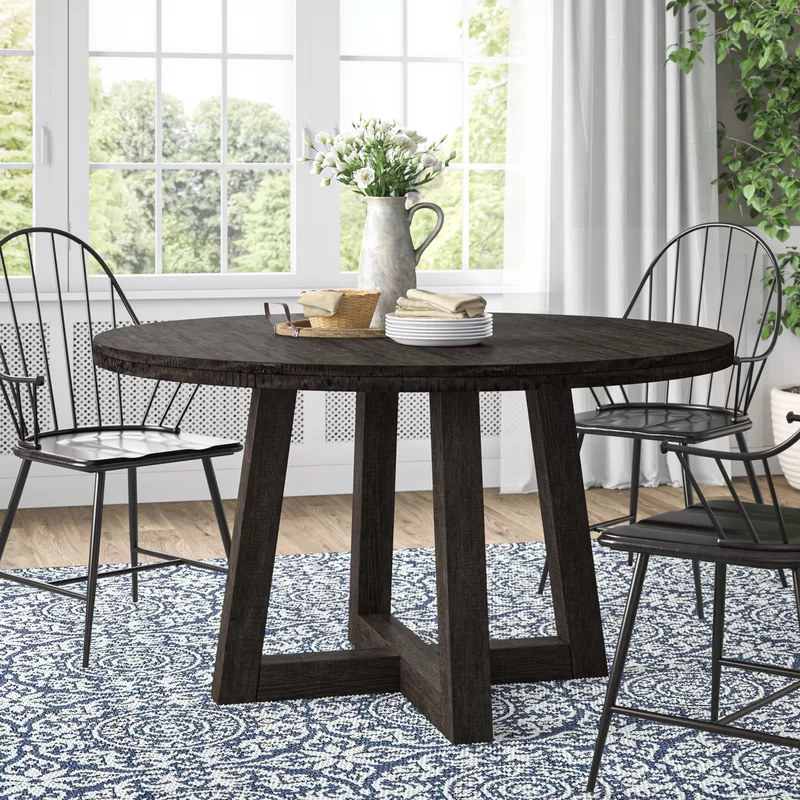 Kayton Solid Wood Dining Table In 2020 Solid Wood Dining Table