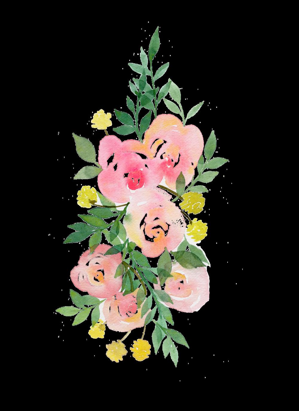 Rose Garland Png Paint Fun Watercolors Pinterest