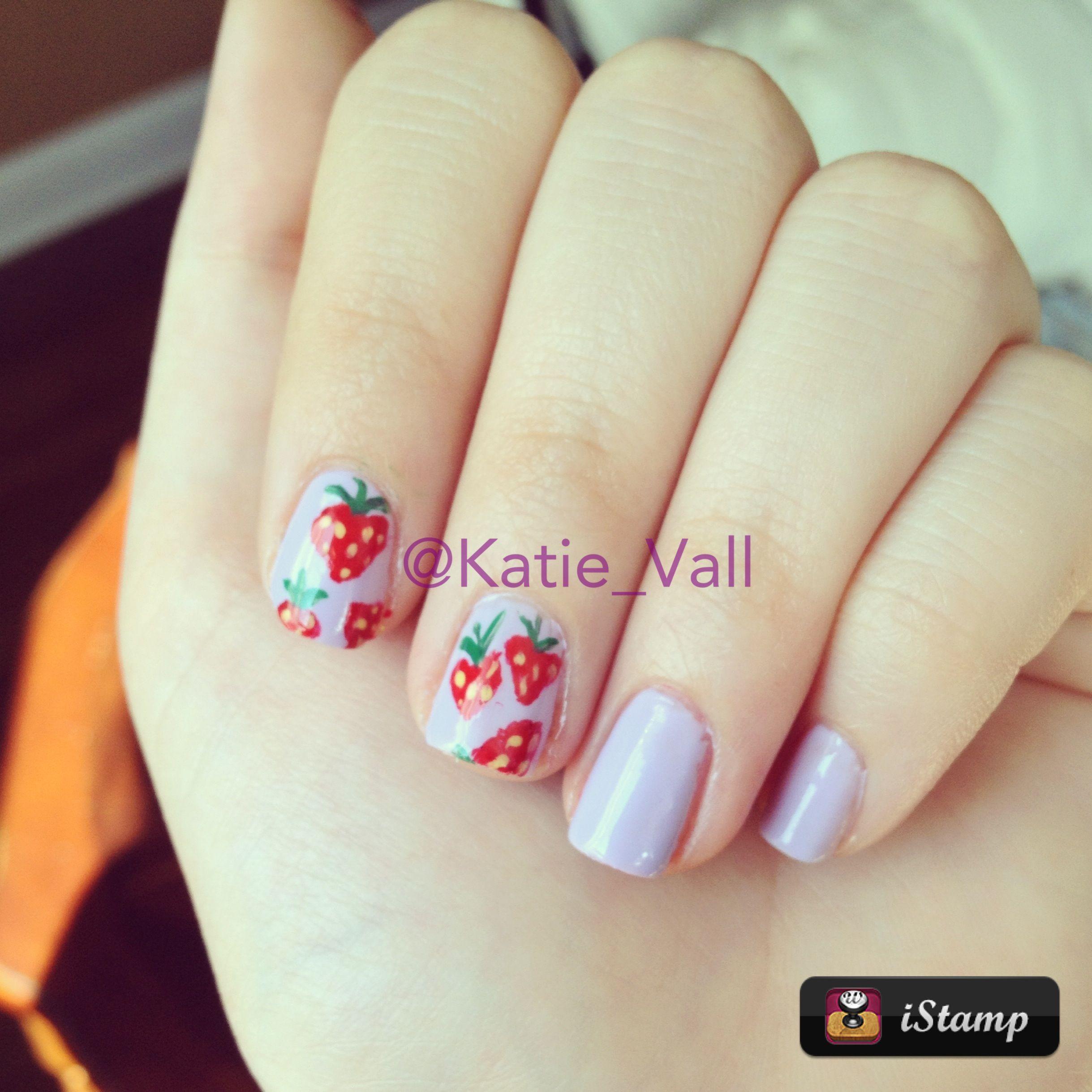 Spring strawberry nail design | Nail Designs | Pinterest ...