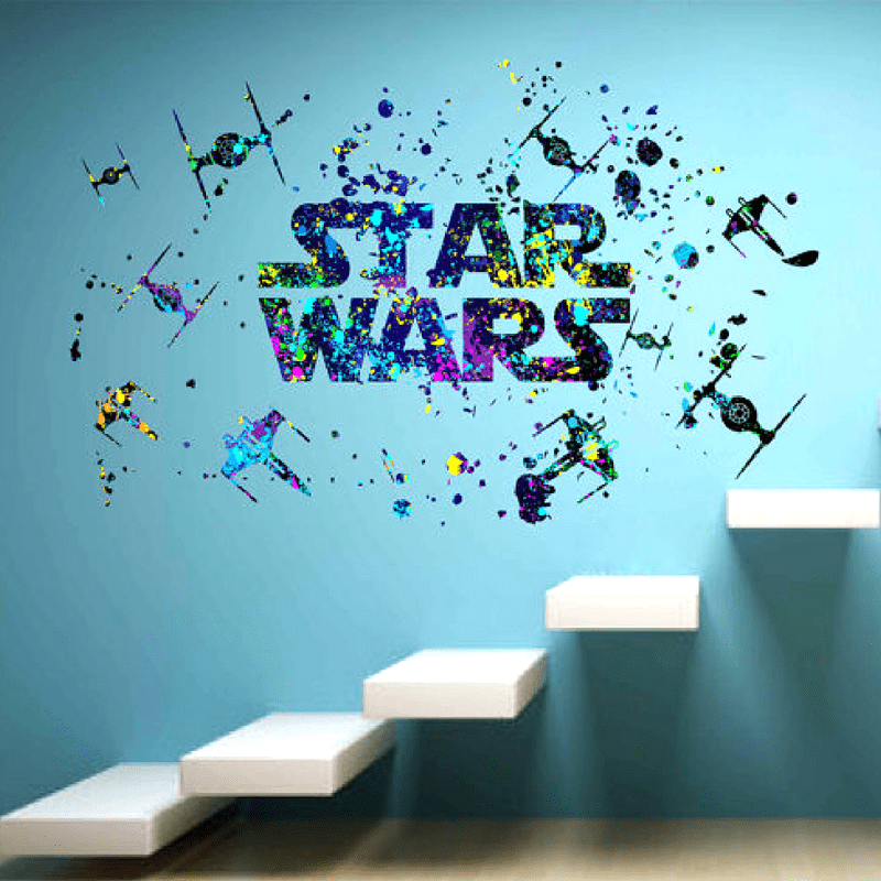 Star Wars Wall Decals Star Wars Gifts 2019 Star Wars Decor Star Wars Wall Decal Star Wars Bedroom