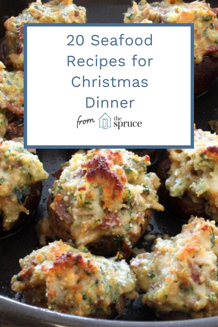 Get inspired by ideas for every course—including appetizers, salads, mains, and desserts—that work whether you're hosting an intimate family dinner or a larger celebration. You may just make this your new annual Christmas dinner tradition! #seafood #seafoodrecipes #christmasrecipes #christmasdinner #feastofthesevenfishes