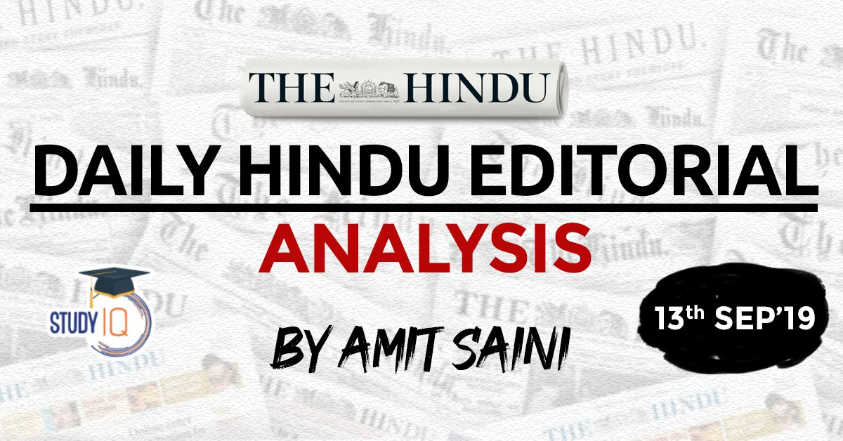 The Hindu Editorial Analysis Analysis, Editorial
