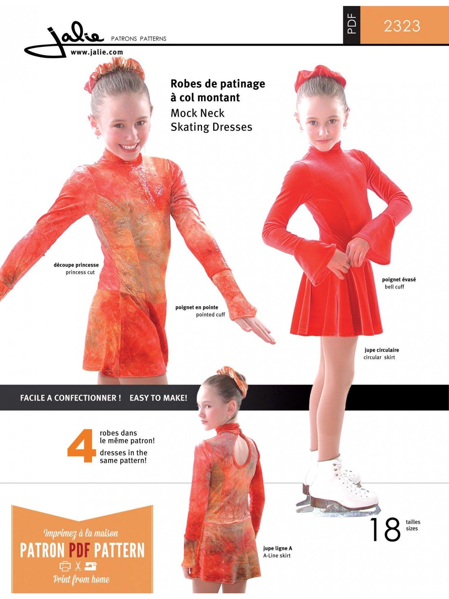 Jalie 2323 - Mock Neck Skating Dress | anita | Pinterest