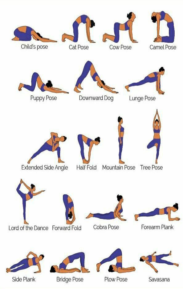 Yoga Poses For Stress And Balance Yoga Balance Poses Basic Yoga Poses Basic Yoga