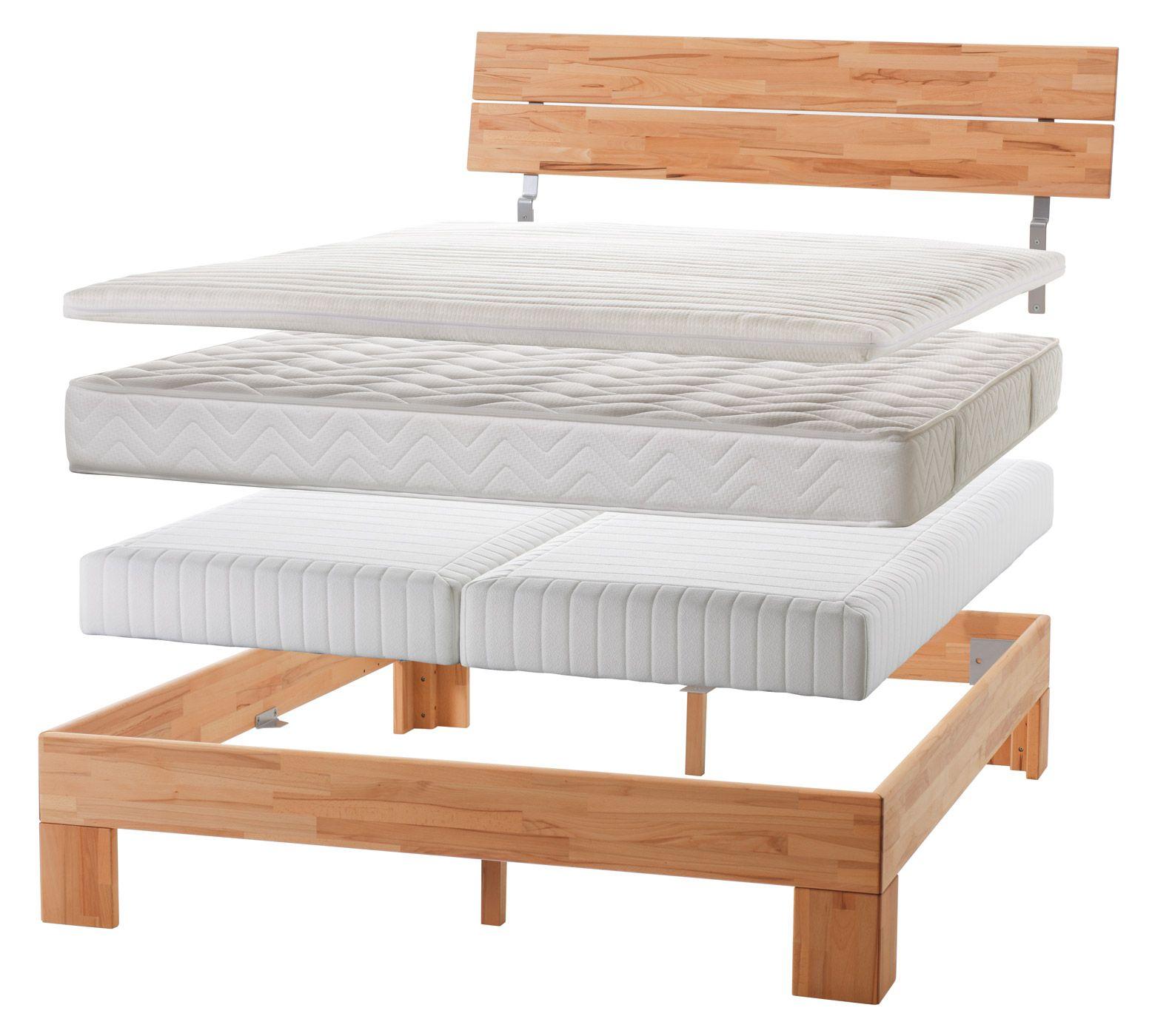 EinlegeBoxspringsystem für Bett mit einem Kopfteil