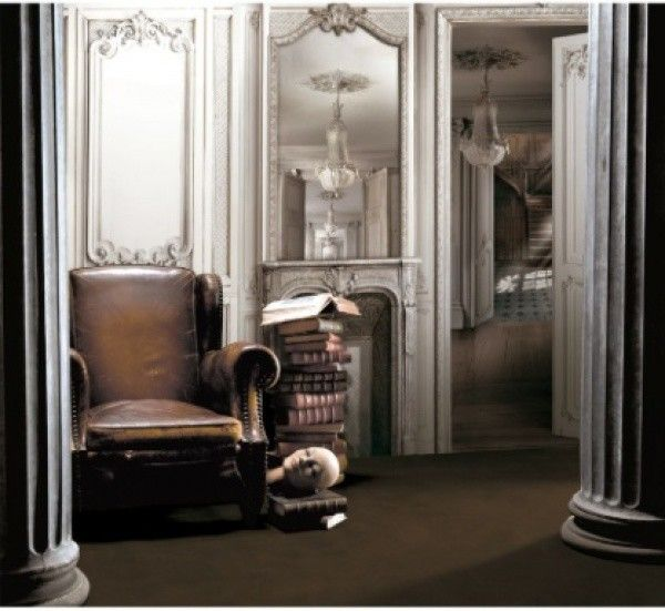 room with trompe l\'oeil panels | Architectural Design French | Pinterest