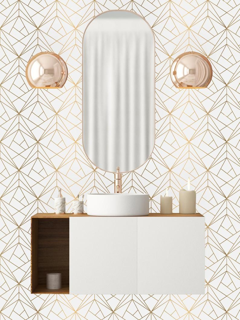 Gold Geometric Net Removable Wallpaper Peel And Stick Etsy Removable Wallpaper Self Adhesive Wallpaper Peel And Stick Wallpaper