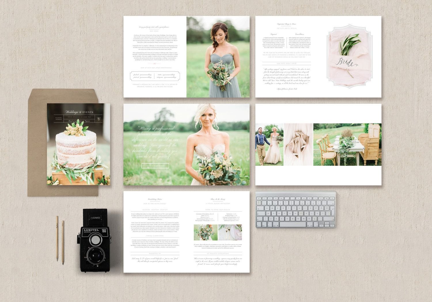 Magazine Template For Wedding Planners Amp Event Designers