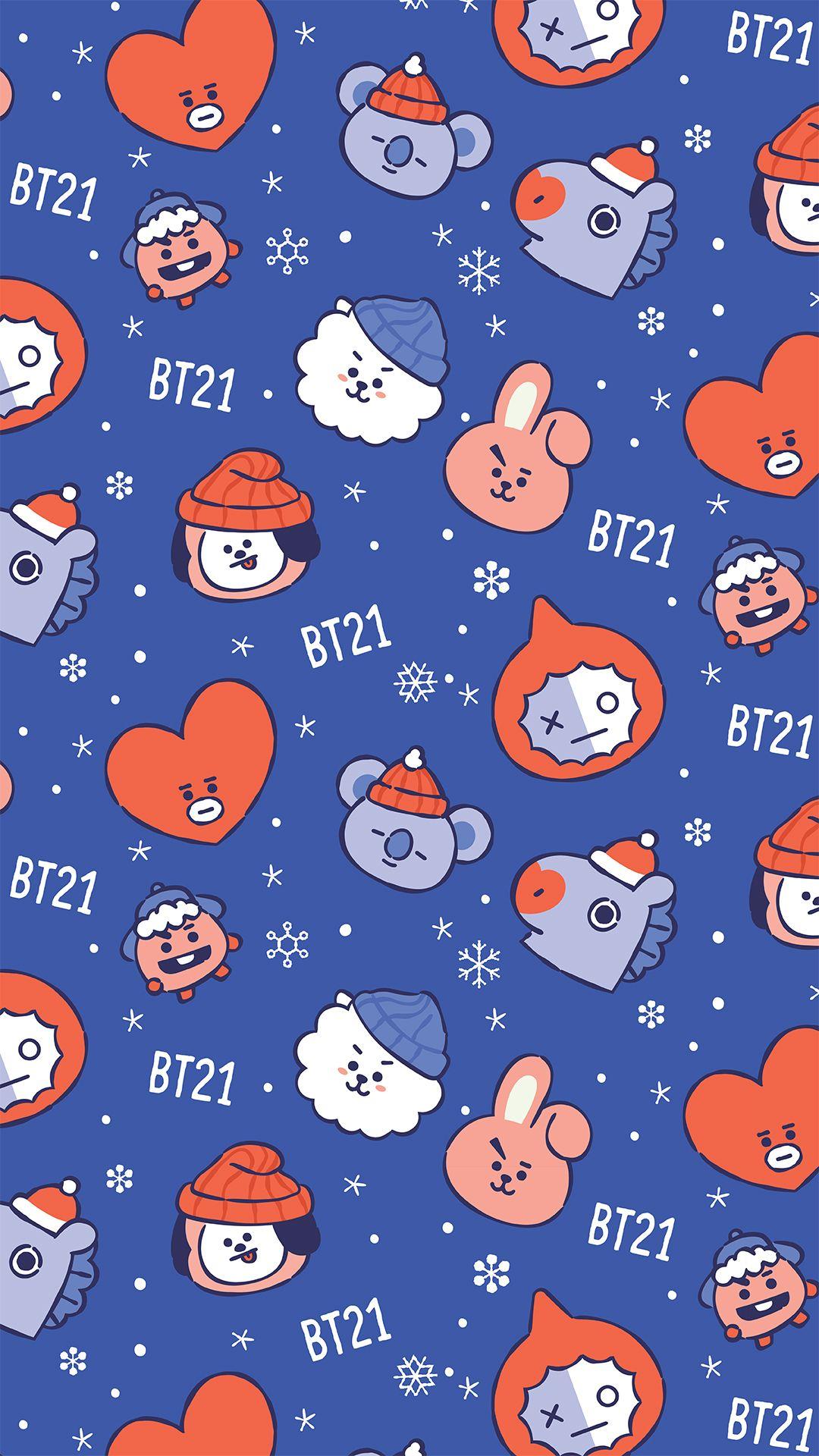 bt21,wallpaper,winter,shooky,rj,cooky,van,koya,tata,mang