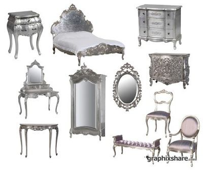 Lush Fab Glam Blogazine: Home Decor: Go Glam With Modern and Vintage Silver Furniture.