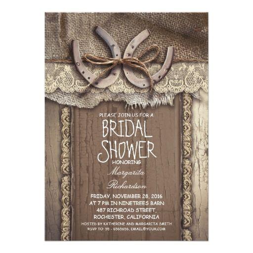 vintage country bridal shower invitations | Zazzle.com