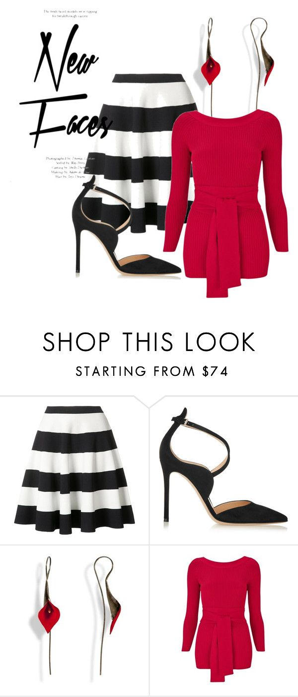 """""""Untitled #1664"""" by prettybrenda ❤ liked on Polyvore featuring Akris Punto, Gianvito Rossi and Topshop"""