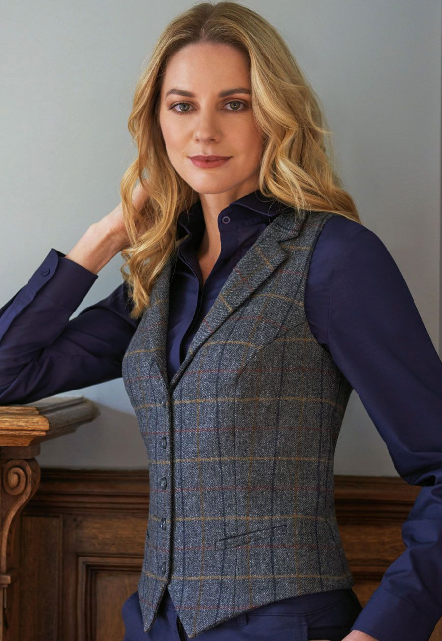 Ladies Nashville Tweed Vest #womenvest