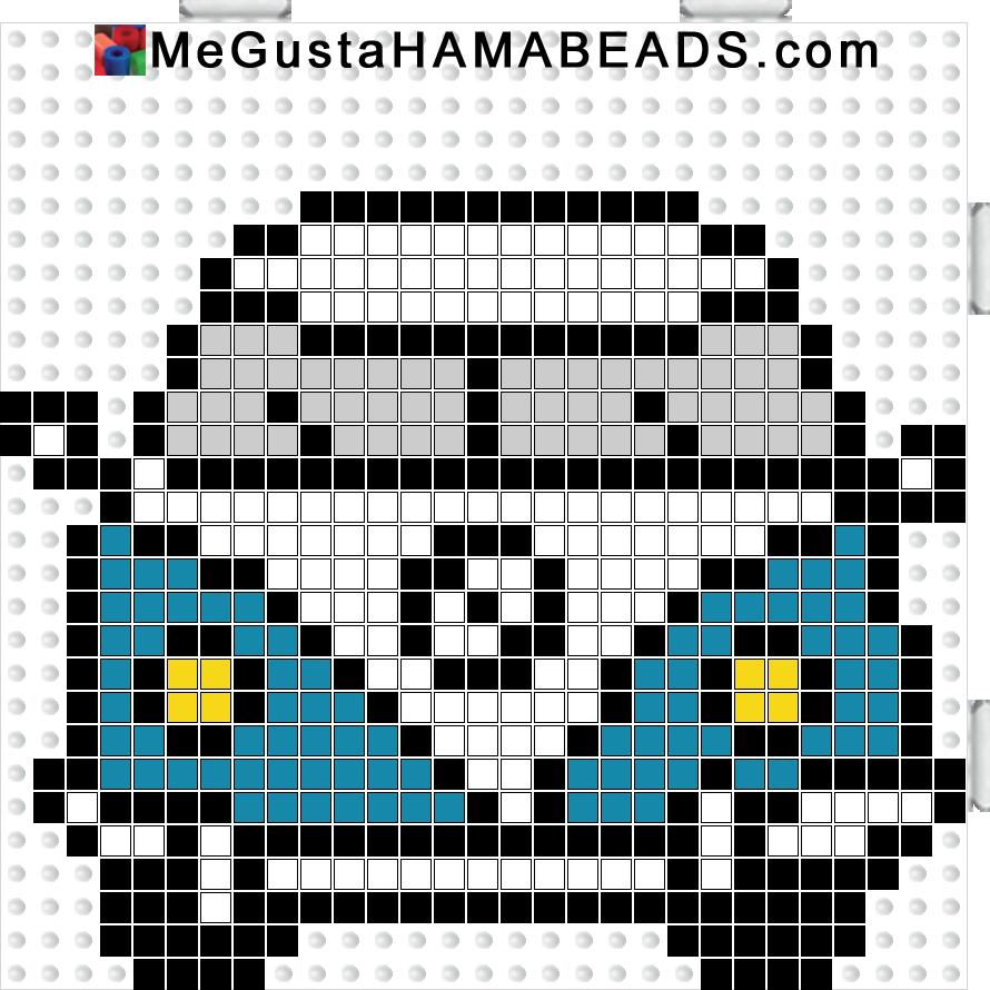 VW T1 hama perler beads pattern - Crochet / knit / stitch charts and graphs
