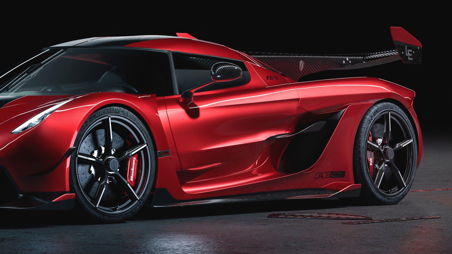 Koenigsegg Jesko Cherry Red Edition 10 Is Pure Sweetness Carscoops Koenigsegg Koenigsegg Jesko Car Design