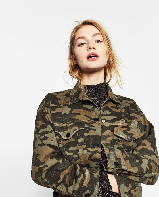 f02dd914a051 Image 3 of LONG CAMOUFLAGE JACKET from Zara