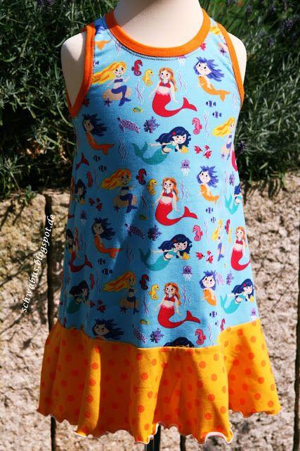 Schnitt #Trägerkleid von #Klimperklein, Stoff von #buttinette