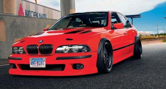 Bmw E39 5 Series Red Slammed Bmw E39 Bmw Bmw Cars