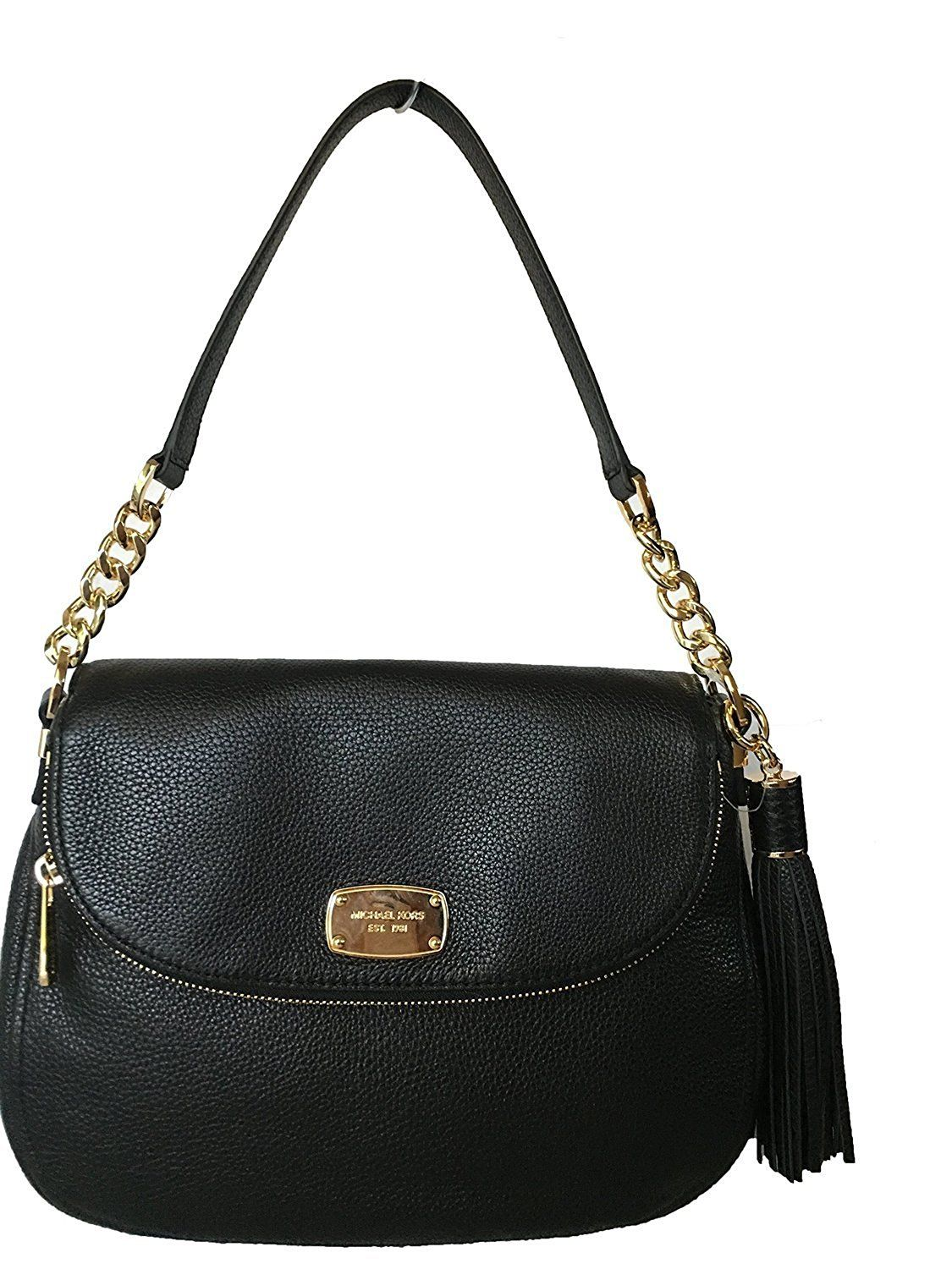 4175a5b542 Michael Kors Bedford Medium Tassel Crossbody Leather Bag - Black   Tried  it! Love it! Click the image. - amazon affiliated pin