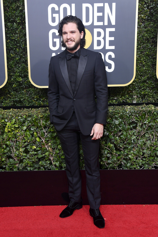 The Best Dressed Men In Black At The Golden Globes Kit Harington Golden Globes Red Carpet Best Dressed Man