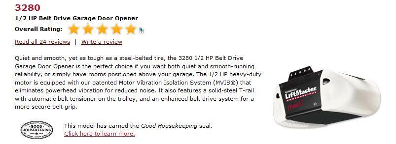 Liftmaster 1 2 Hp Belt Driven Garage Door Opener Garage Door Opener Liftmaster Belt Drive