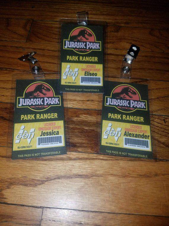 Jurassic Park World Badges Visitors VIP Rangers Se