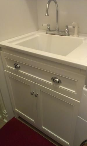Foremost Keats 30 in Laundry Vanity in White and Premium Acrylic