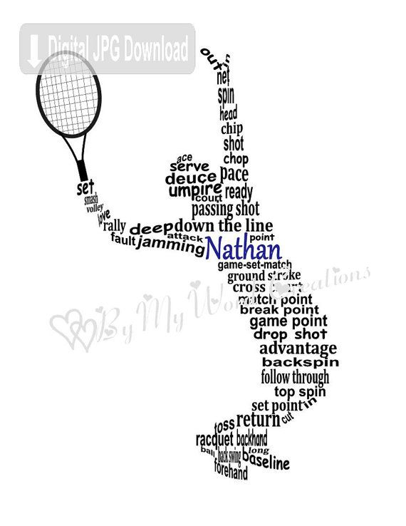 tennis player art boy tennis player word art by bymywordcreations